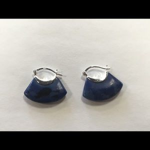 Jewelry - Sterling & Lapis Pierced Earrings, #MO118